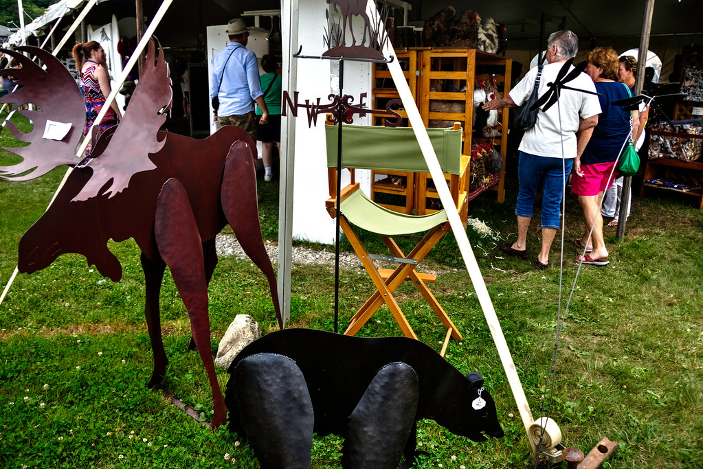 Carol and Jean entering one of the craft tents