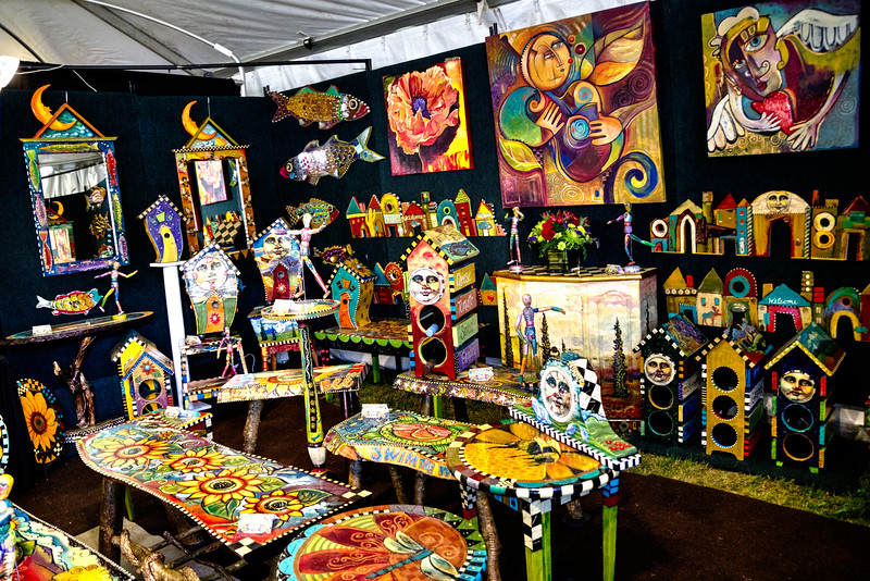 One of the amazing artists booth