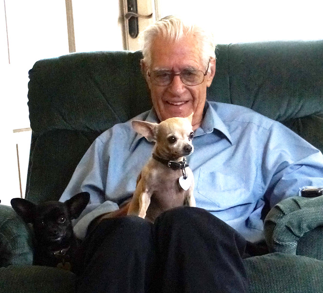 Wilfred Randall with Tico and Shadow (yoda