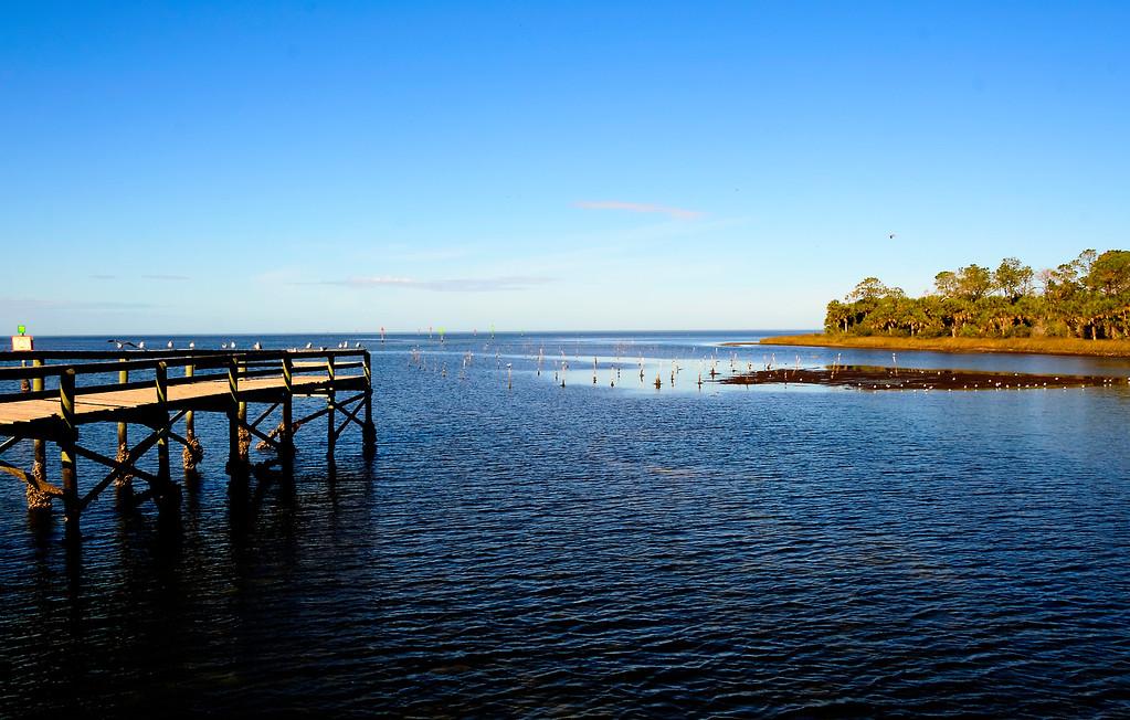 Gulf pier at Bayport Park