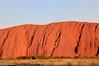 Uluru in the setting sun.