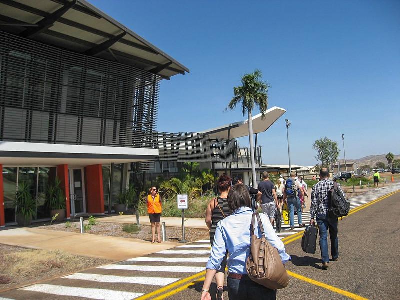 Arriving at Kununurra Airport