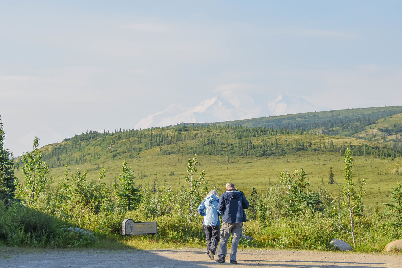 Mt. Denali - Now you see it ...