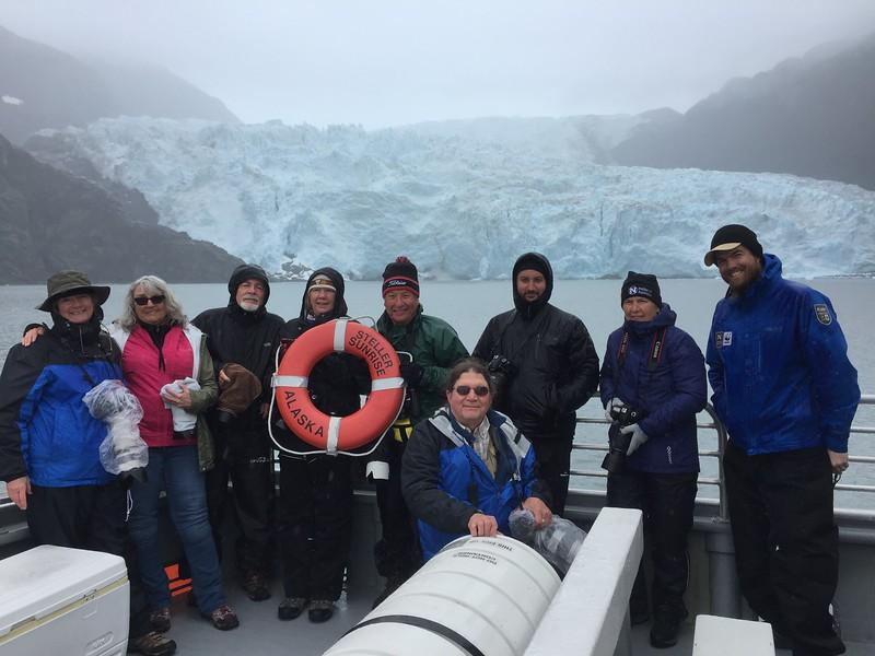 Our Expedition: Barbara, Charlene, Howard, Carol, Milton, Ari, Chris, Justin, John (in front)