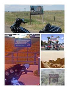 Wyoming - Las Vegas - Tennessee - Oklahoma - CAL-NEV borders.