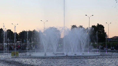 Fountains in Warsaw