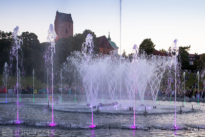 Multimedia Fountain Park in Warsaw
