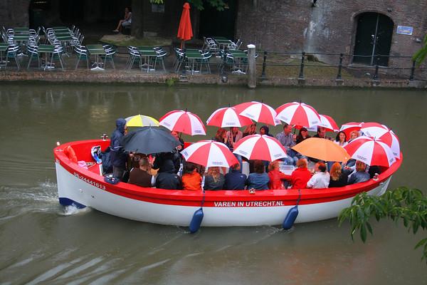 Caught in the rain in Utrecht.