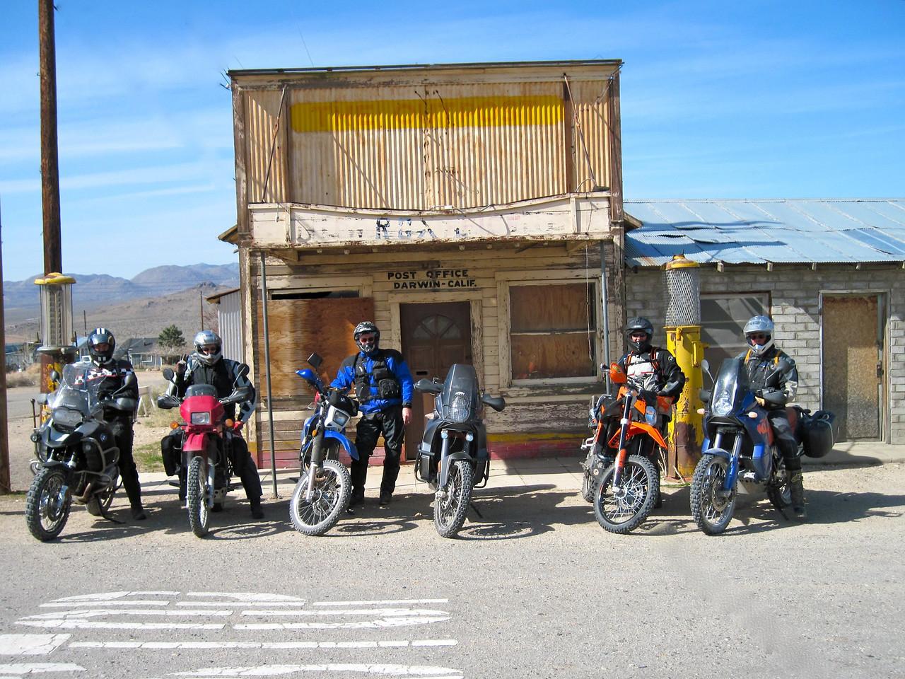The town of Darwin in the California desert