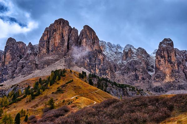 Passo Gardena, Dolomites, Italy