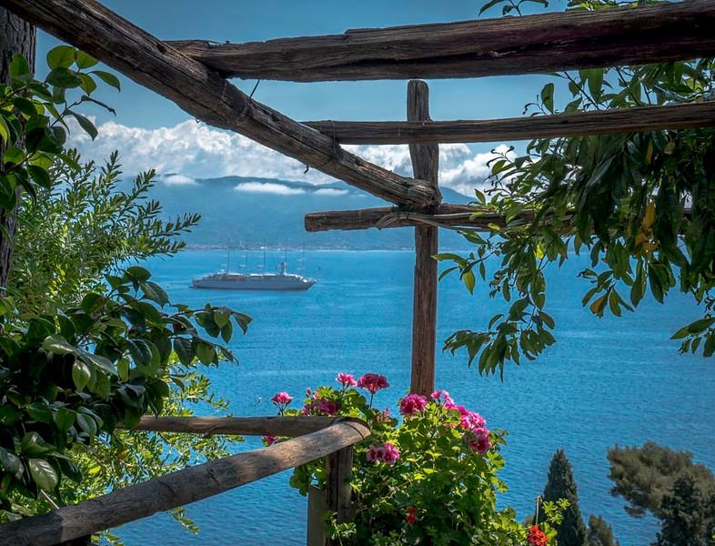 018a - Mediterranean Sea from Fortress on Portofino