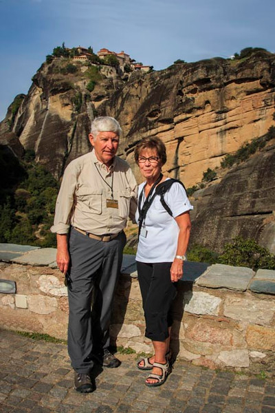083 - Meteora -  Bob and Dorothy at one of monasteries