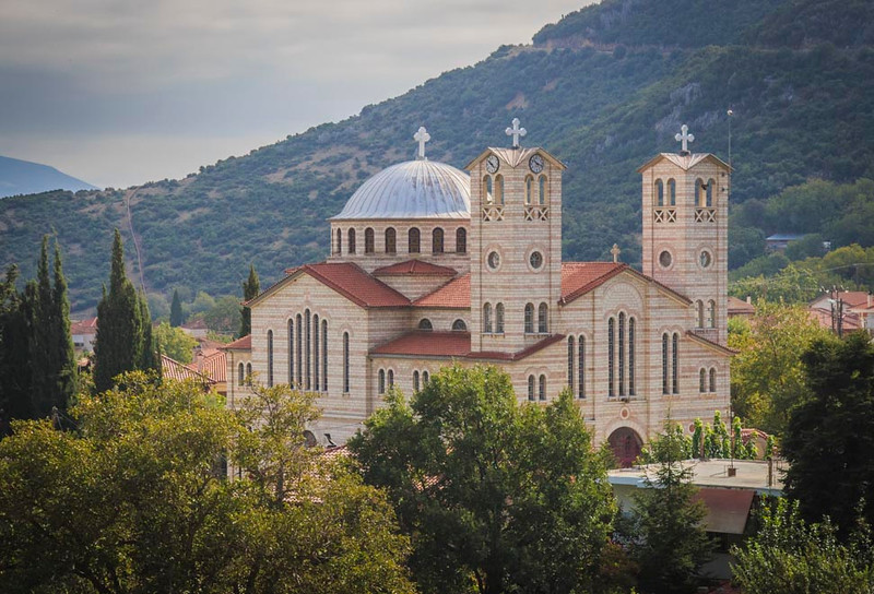 075 - Beautiful Greek Orthodox Church - north of Delphi