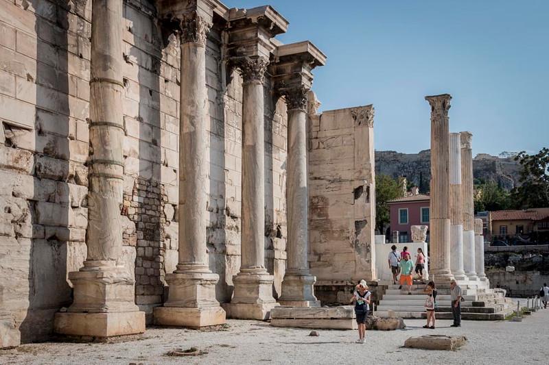 033 - Corinthian Column's - Hadrian's Library - Athens