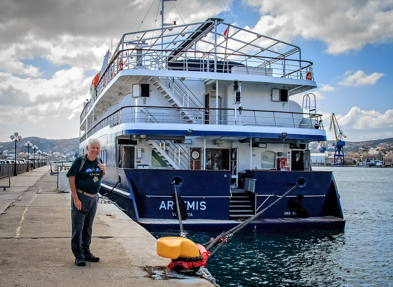 086 - Our ship - on Syros