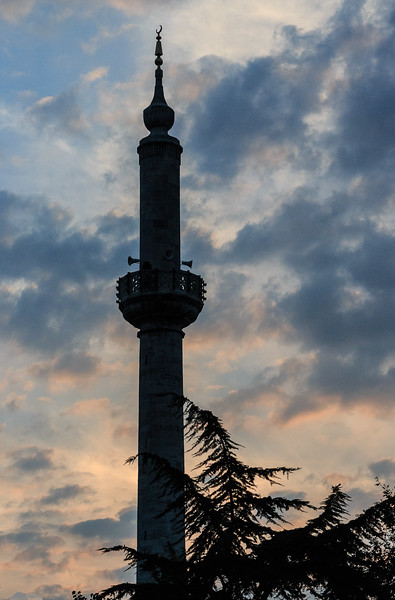 166 - The Blue Mosque Minarette - sunset