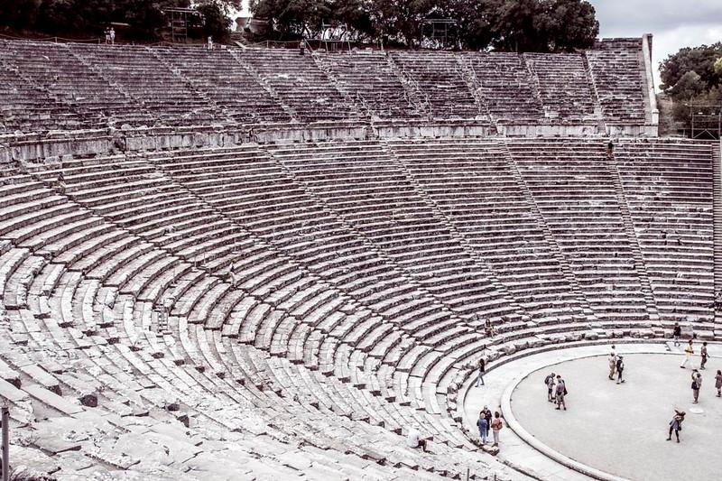 055 - Epidaurus - on Peloponnese  -  Sanctuary of Asclepius, son of Apollo   (3rd BC)