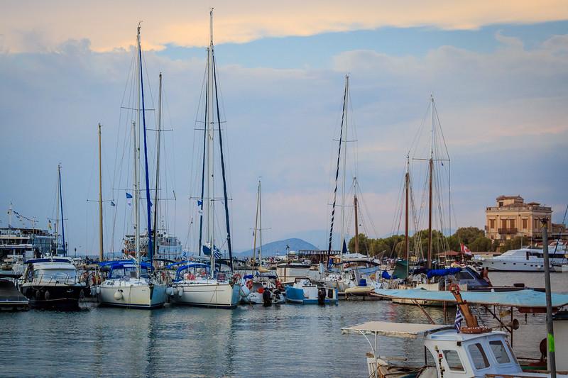 051 - Harbor on Island of Aigina , 1st capital Greece
