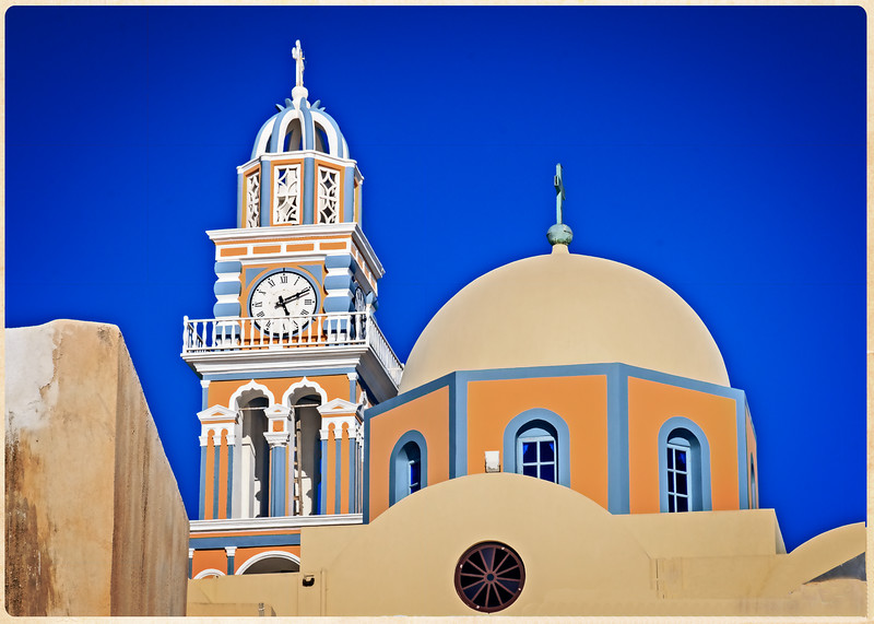 106 - Santorini - church steeple