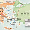 Map of Trip - included optional extension - Olympia and Nafplion
