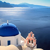 108 - Santorini - church over water