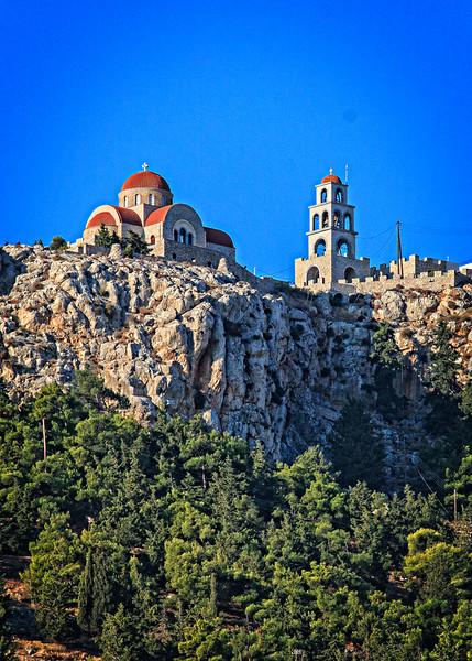 122 - Kalymnos - monastery on hill