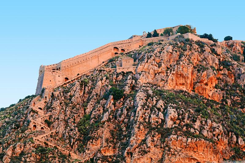 Palamidi Fortress at Sunset / Крепость Паламиди на закате