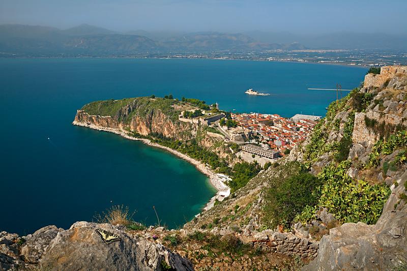 Greece. Nafplio — View from Palamidi fortress / Греция. Нафплион — вид из крепости Паламиди