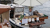 There's a busy open-air market (Kauppatori = Market Square) down by the harbour; this stall is actually floating!