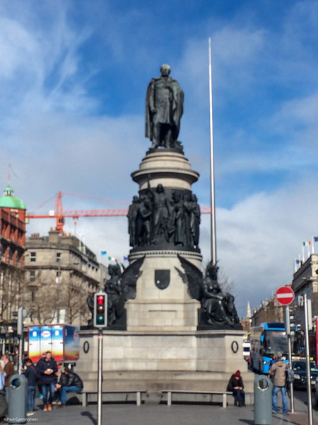 "The O'Connell statue,  and behind it the ""needle"" which replaced Nelson's Column."