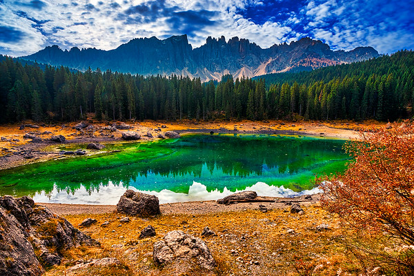 Lake Carezza - The Pearl Of  Dolomites