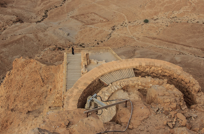 143 -  Balonies build on the end of Masada overlooking the surrounding area