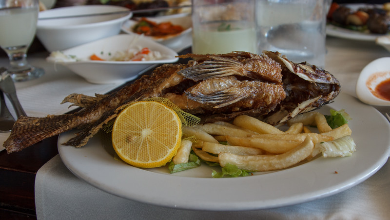 076 -  Lunch  - Tilapia   This is the fish that the disciples caught