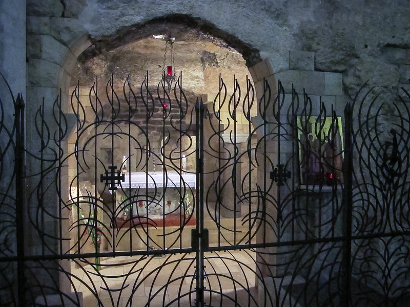 033 -  the site of Mary and Joseph's home in Nazareth - now the center of the Bascilica