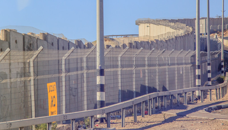 174 - Barrier along highway between Jericho and Jerusalem
