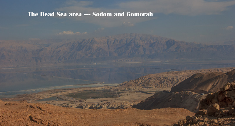 015 - The Dead Sea - Jordan is on the other side - note the hills   At night we could see lights