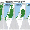 166 - Map howing progresion of Palestinian loss of land