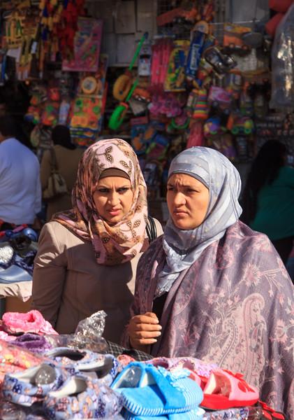 161 - Young Muslim women shopping in downtown area of Ramallah