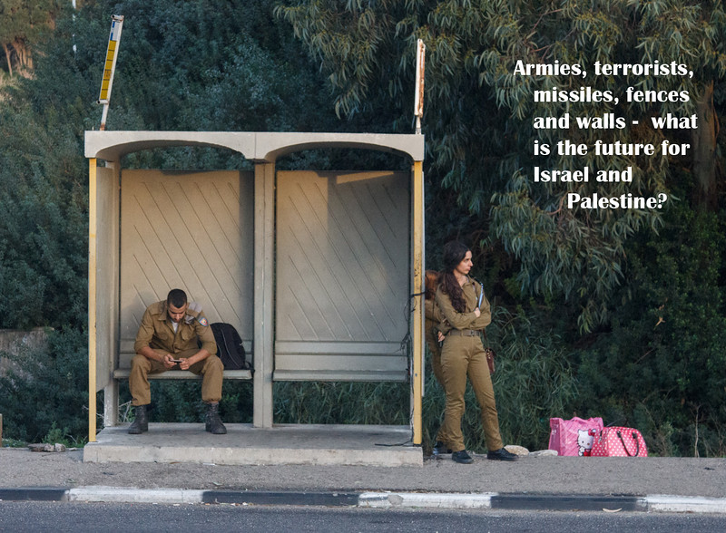 164 - Israeli Soldiers waiting for a bus