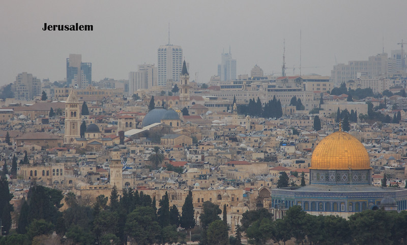 094 - View of Jerusalem - Dome of the Rock on right side