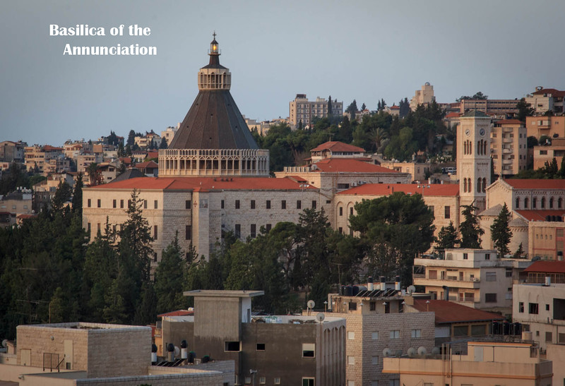 030 - Nazareth-Basilica of the Annunciation in the middle