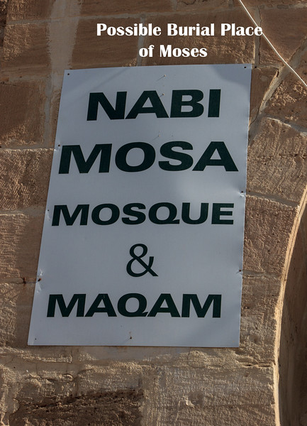 Nabi Mosa Mosgue where tradition indicates Moses may have been buried