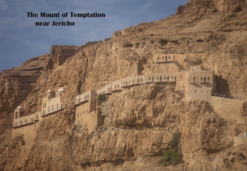 088 -  Mt of Temptation - Monastery - Jericho- where Jesus was tempted by Satan