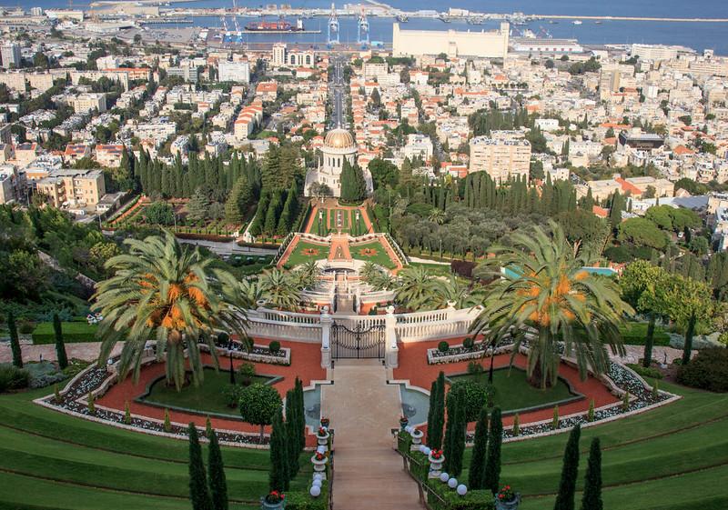 7 - Haifa  Bahai Garden  -  the world's newest religion