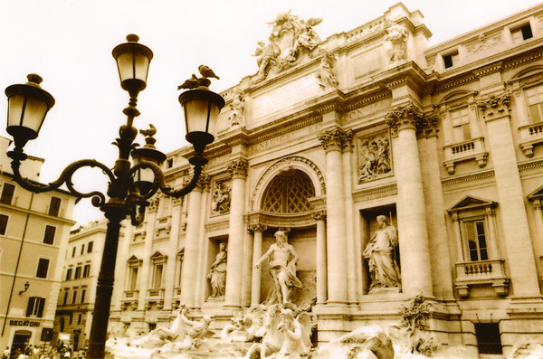 Trevi Fountain in Rome, Italy. (Sepia toned).<br /> PHOTO BY: Cynthia Carris