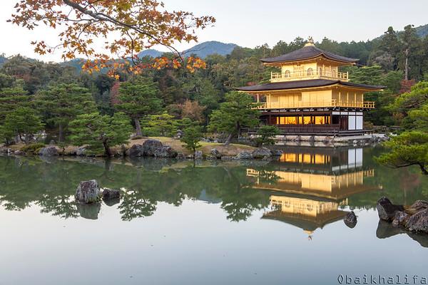 The golden pavilion, Kinkaku-ji, a zen buddhist temple in Kyoto.