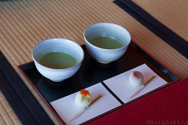 Green tea cermony at HamaRikyu gardens