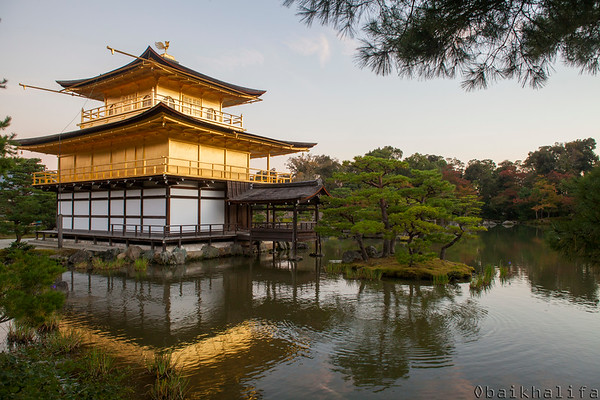 The golden pavilion, Kinkaku-ji, a zen buddhist temple in Kyoto.