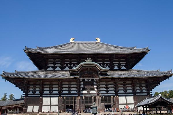 Tōdai-ji Buddhist temple in Nara, the first permenant capital of Japan.