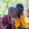 Two Maasai ladies in Namanga